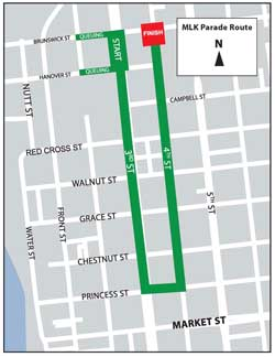 MLK Parade Route