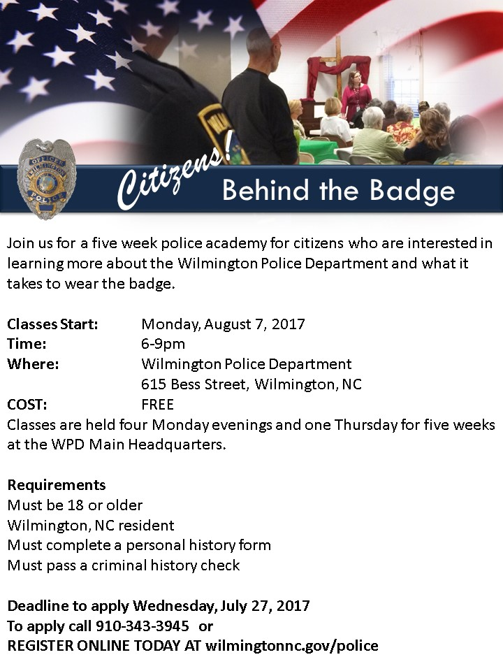 Flyer for Citizen's Academy