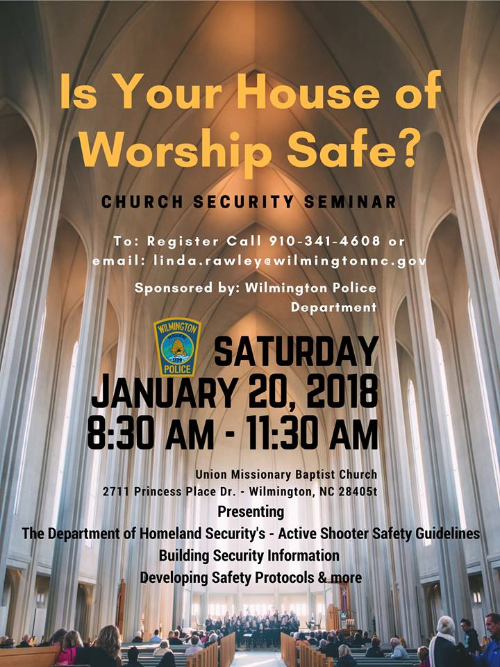 Church Security Seminar 1/20/2018