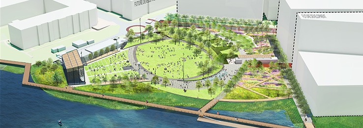 North Waterfront Park Final Aerial Perspective