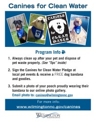 Canines for Clean Water Program Card