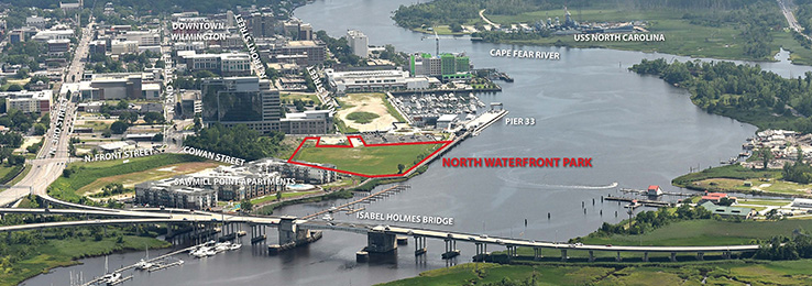 North Waterfront Park Aerial of Site