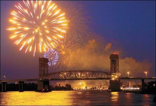 july 4th Cape Fear Memorial Bridge