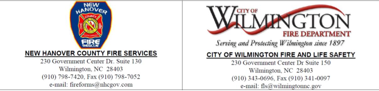 Above Ground Storage Tank Installation Permit | City of Wilmington, NC